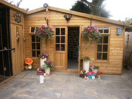Summer house, burscough fencing and sheds